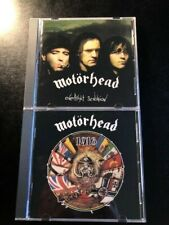 2 MOTORHEAD CDS WITH ORIGINAL TICKET STUBS INCLUDED