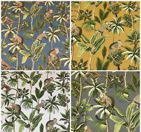 Tropical Monkey Botanical 100% Cotton Curtain Upholstery Cushion Blind Fabric