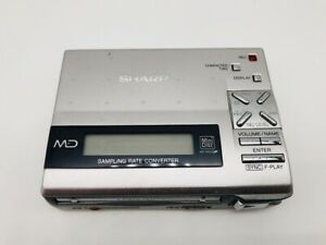 MD1021 Excellent  SHARP PORTABLE MD RECORDER MD-MS200  Silver