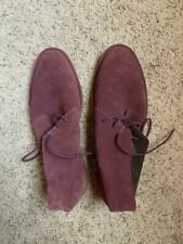 $298! Cole Haan Men's Red Suede Chukka Ankle Boots Size 12 - NICE!