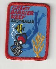 Great Barrier Reef Australia Souvenir Scuba Diver Patch