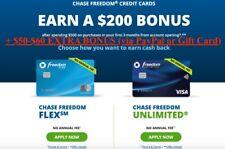 Chase Freedom/ Freedom Unlimited Referral + $50-60 EXTRA BONUS