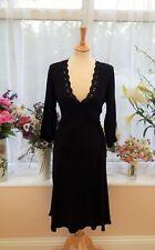 Stunning GHOST LONDON Black V-neck sheath dress size XL