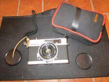 Konica C35 Rangefinder 35mm Film Camera w/ Strap Case 38mm F2.8 Hexanon Lens