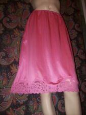 Vintage Vanity Fair Pink Nylon Lacy A-line Half Slip M