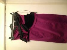 Asos one shoulder purple and black dress 10