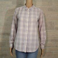 Anthropologie Isabella Sinclair XS Susanna Button Up Shirt Lavender Purple Plaid
