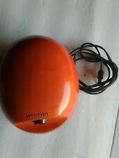 Vintage 70's Boston Orange Egg Shaped Electric Pencil Sharpener Model #16 USA