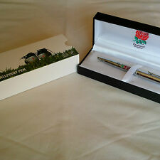 England Rugby Executive Pen in Gift Box - Chrome Ball Point Pen - Ideal Gift