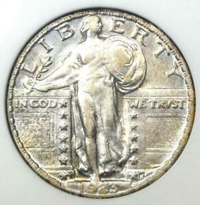 1923-S Standing Liberty Quarter 25C Coin - Certified ANACS XF45 - Rare Date!