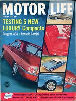 Motor Life Magazine August 1961 Peugeot 404 Renault Gordini EX NO ML 121415jhe
