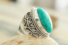 Handgefertigte Edelsteinen aus Sterlingsilber Ringe mit Türkis-Sets