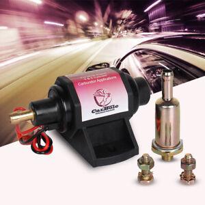 Universal Electric Fuel Pump Carburetor 12V 42GPH Gasoline 2-3.5PSI Low Pressure