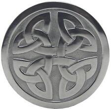 Silver Irish Celtic Knot Mesh Design Belt Buckle Medieval 1483