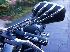 Motorcycle Skeleton Skull Hand Mirrors For Harley Sportster 1200c Xl 1200 883 Us(Fits: Mastiff)