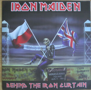 IRON MAIDEN Behind the Iron Curtain LP RED VINYL VERSION Ltd NWOBHM Rare