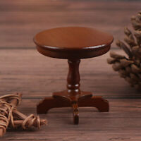 1/12 Dollhouse Miniature Round Table Wooden Furniture Dollhouse Accessories JR