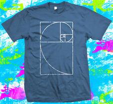 Fibonacci Spiral Mathematics Geek - T Shirt -  6 colour options - Small to 3XL -