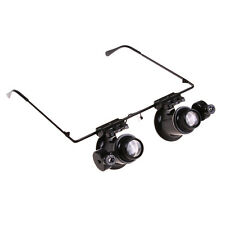 20X Magnifier Glasses LED Light Phone Watch Repair Maintenance Jewelry appraisal