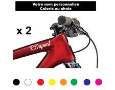 Sticker vélo signature nom    Autocollant  cadre moto texte vtt Coloris au choix