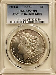 1900-O Morgan PCGS MS62PL VAM 15 Proof Like Silver Dollar Deep Mirrors