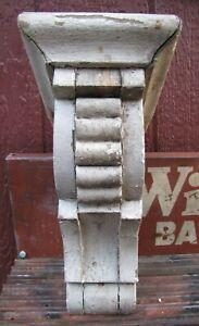 Antique Wooden Corbel Decorative Arts Architectural Hardware Element Old White