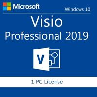 Microsoft Visio Pro 2019 Professional Key for 1 User 1 PC Lifetime Licence Code