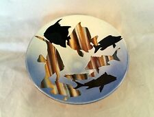 Fish Bowl by Westcote Bell Ceramics bowl by Vaughn Smith Fish pattern 1990's