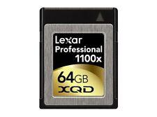 Lexar 1100x 64GB XQD 2.0 Memory Card For 4K Camera DSLR LXQD64GCTBNA1100 165MB/s