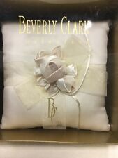 NEW Beverly Clark Ivory A'mour Ring Bearer Pillow