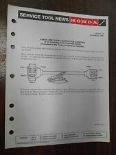 Honda Required Special Tools Factory Service Tool News CX500/650 6787-8312
