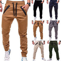 Mens Casual Trousers Jogger Sports Skinny Sweatpants Long Pants Bottoms Fitness