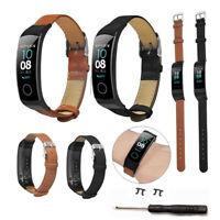 Für Huawei Honor Band 5/4 Ersatz Fibre Leder Uhrenarmband Band Strap Armband