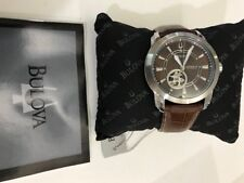 Bulova Bronze Face with Brown Strap #96A108 NIB Brand New Automatic COOL LOOK
