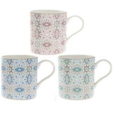 Set of 3 Marrakech Fine China Paisley Mug Hot Coffee Mocha Cappuccino Tea Cups