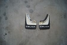 1980 Toyota Celica Liftback GT - MUD FLAPS SPLASH GUARDS CELICA Black/White OEM