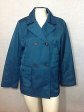 Talbots M Teal Coat Jacket Double Breasted Lined M Medium