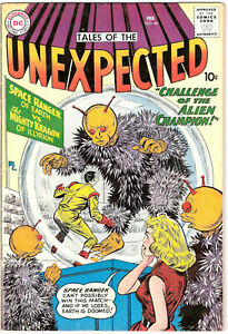 Tales of the Unexpected 46 FVF (7.0) Space Ranger DC Comics 1959 Sci-Fi