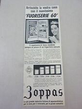 ADVERTISING PUBBLICITA' ZOPPAS 'FUORISERIE 60' il capolavoro - 1960