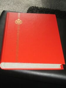 gb,commonwealth & world stamps in large stock book / stamp album