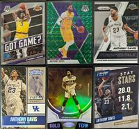 Lot of (6) Anthony Davis, Including Mosaic Green (LA), Gold Team & other inserts