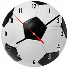 "8"" WALL CLOCK - SOCCER 1 Ball Sports Score Kid's Bedroom Bar Game Room Man Cave"