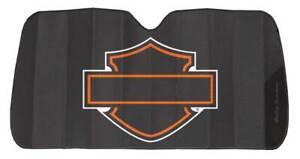 Harley-Davidson Bar & Shield Logo Accordion Auto Sunshade - Matte Black 3948W