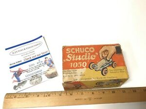 Schuco Studio 1050 Racer With Box Vintage Wind Up Tin Early Germany Toy