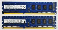 8GB (2x4GB) DDR3 1600MHz Desktop PC RAM ~ PC3-12800U 1Rx8 Memory 240 pin DIMM