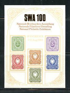V992  Southwest Africa  1984  Stamp Exhibiton    sheet   MNH