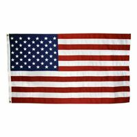 US Flag 3 x 5 ft: 100% American Made  Cotton  Embroidered Stars and Sewn Stripes
