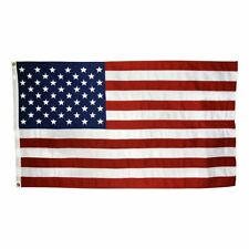 US Flag 3 x 5 ft: 100% American Made – Cotton - Embroidered Stars and Sewn Strip