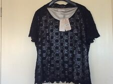 Jacques Vert Ladies black lace evening/occasion top. Size 20. New with tags