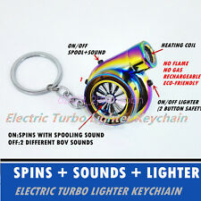 Rechargeable Electric Turbo Lighter keychain Colorful has LED light + BOV sound